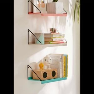 (PINK) Urban outfitters metal wall shelf